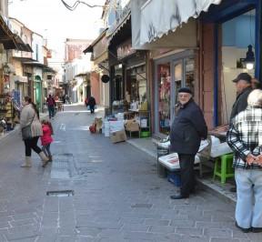 Οδός Ερμού στη Μυτιλήνη