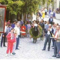 Το πανηγύρι του Αγίου Χαραλάμπους στην Αγία Παρασκευή, περιφορά