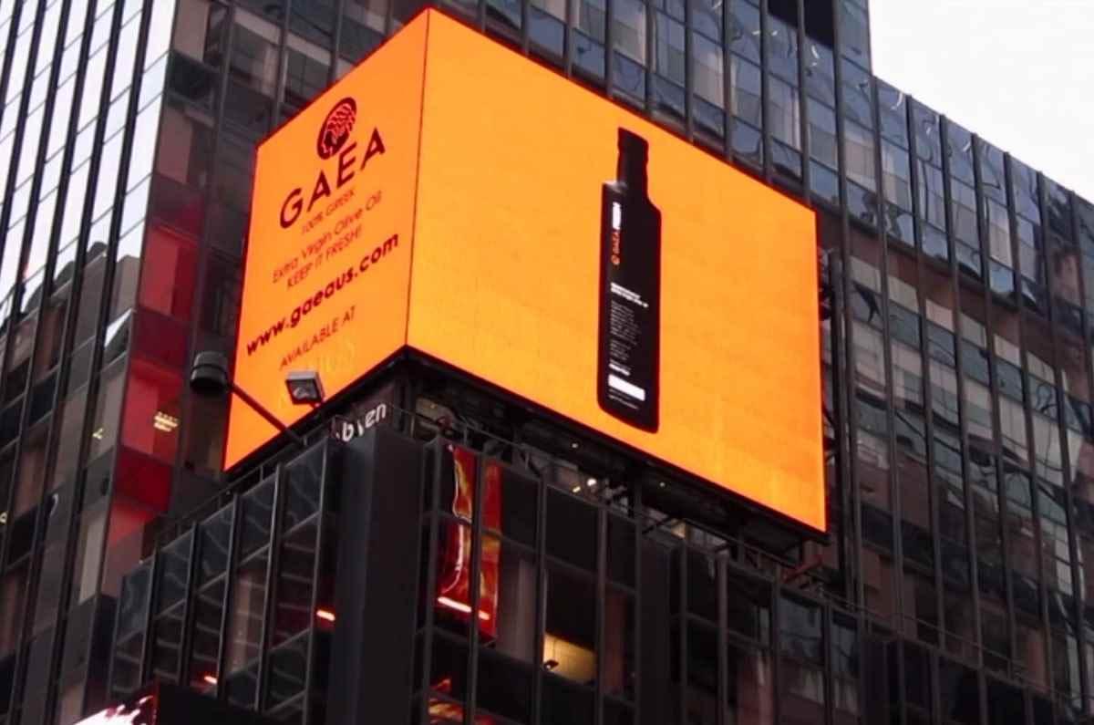 Το GAEA FRESH στην TIMES SQUARE της Νέας Υόρκης