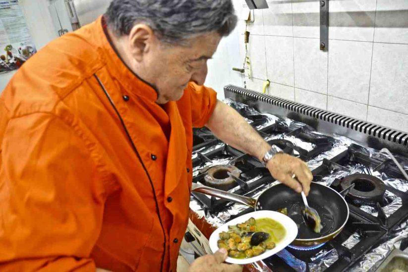 Μύδια σαγανάκι - Εστιατόριο Πανόραμα - Πόρος - Greek Gastronomy Guide