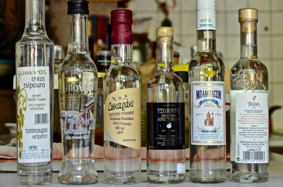 Tsipouro - National Greek Product - Greek Gastronomy Guide
