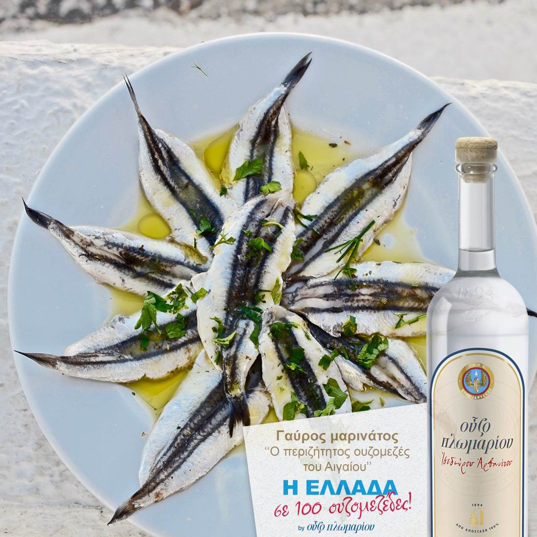 Γαύροι μαρινάτοι - Ουζομεζέδες - Greek Gastronomy Guide