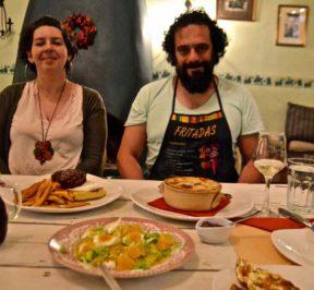 Χρήστος Παπιγκιώτης & Ηλέκτρα Δάμου - Ντιζάκι στα Άνω Πεδινά - Greek Gastronomy Guide