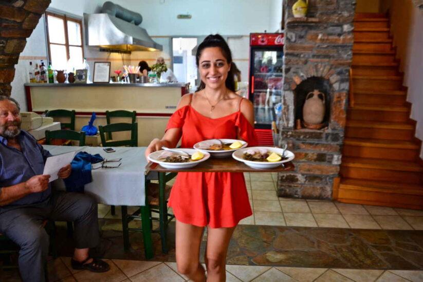 Ταβέρνα Γιωργαλίνης - Βρούτση, Αμοργός - Greek Gastronomy Gui